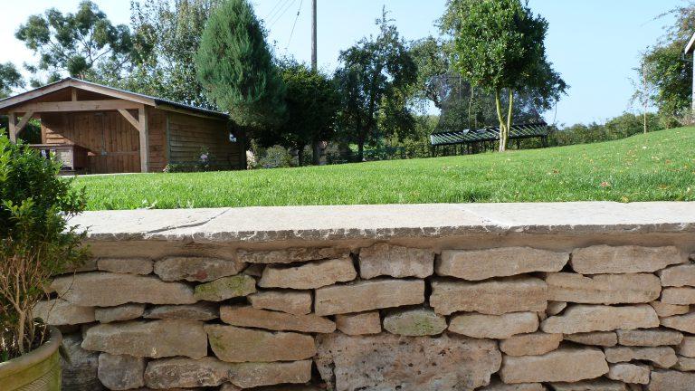 Lullington dry stone wall
